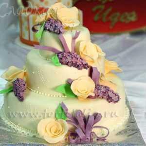 Стильный торт свадебный 002401