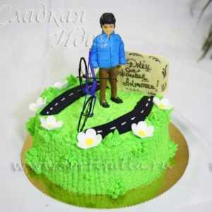 Торт Спортсмен с велосипедом