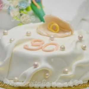 Торт на юбилей свадьбы 004119