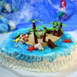 Торт на заказ Остров