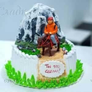 "Торт ""Турист в горах"""