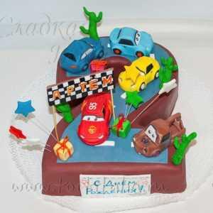 Торт детский Машинки