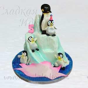 Торт для детей Пингвины