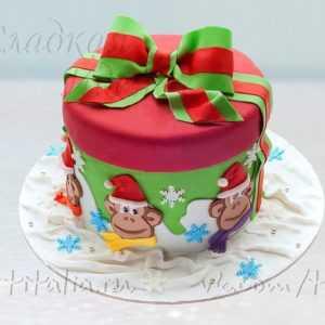 Новогодний торт 007329