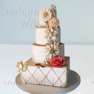 Свадебный торт Золотой ключик