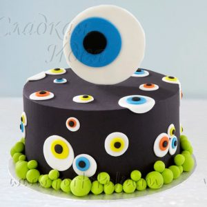 """Торт на Хеллоуин """"Глаз"""""""
