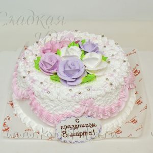 Торт к 8 Марта