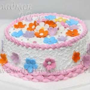 Торт для девочки – Ромашки