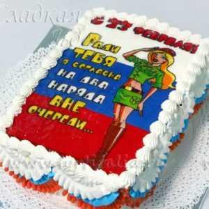 Торт к Дню защитника