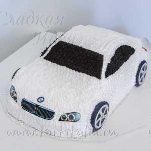 Праздничный торт машина БМВ