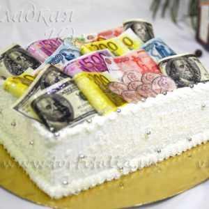 Юбилейный торт Деньги