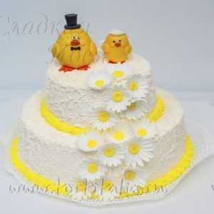 Свадебный торт Цыплята