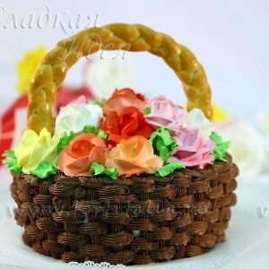 Торт Корзина с цветами
