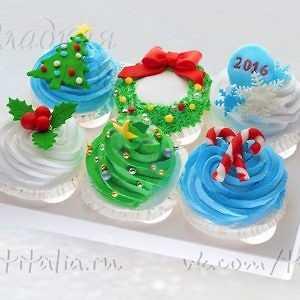 Капкейки новогодние 007332